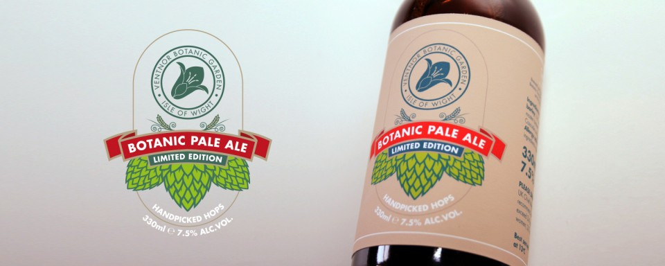 botanic-pale-ale-bottle-label-design