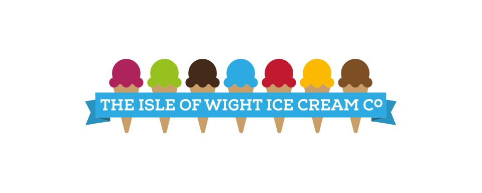 isle-of-wight-ice-cream-long-logo-design