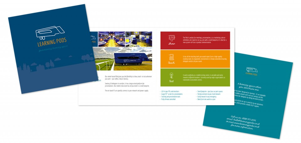 learning pods brochure design