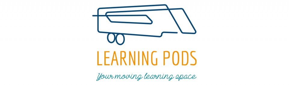 learning pods logo design