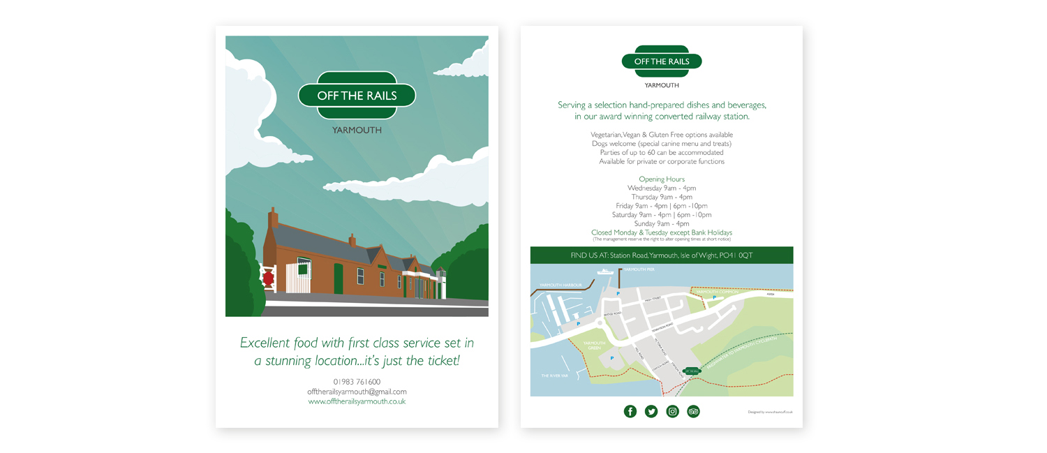 off-the-rails-yarmouth-isle-of-wight-leaflet-design