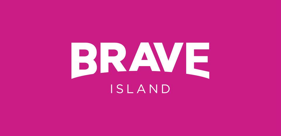 brave island logo design header image