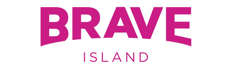 brave island logo design