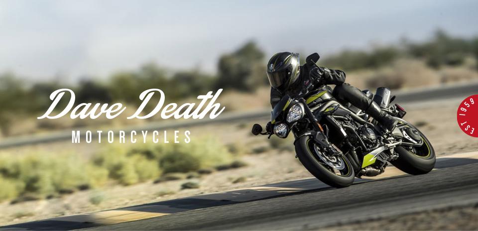 dave death motorcycles logo design header