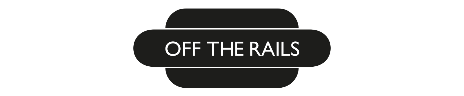off the rails yarmouth newspaper logo design