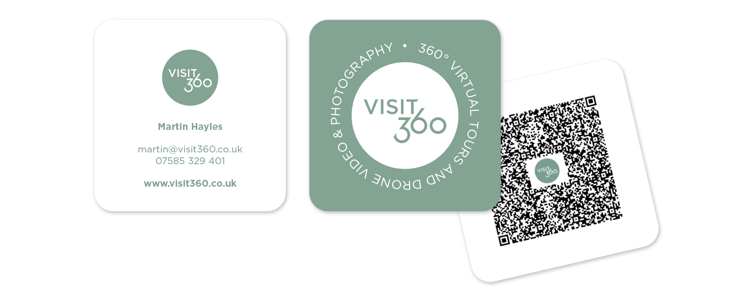 visit360 isle of wight business card design print