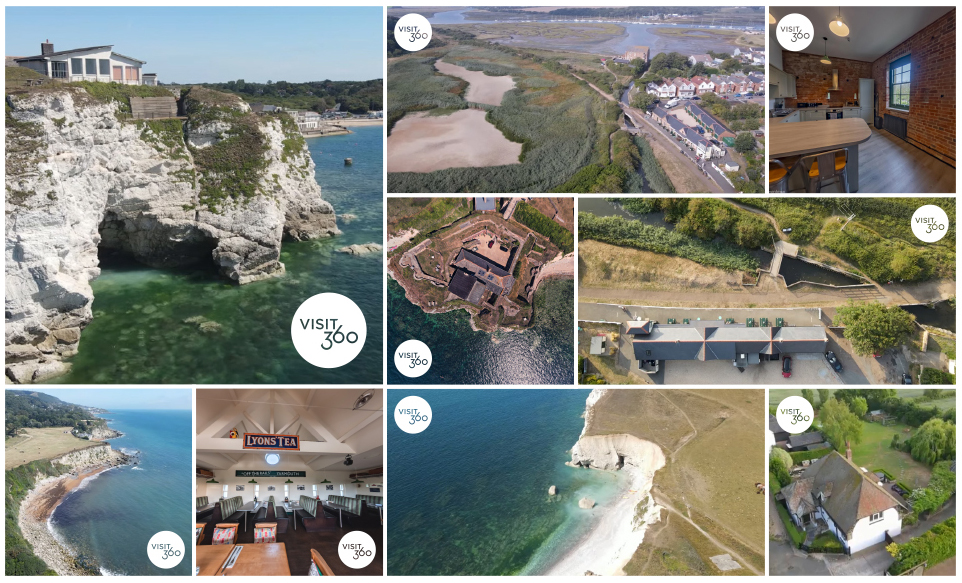 visit360 isle of wight drone photography montage