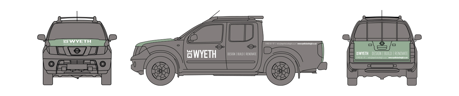 wyeth isle of wight builder vehicle graphics design