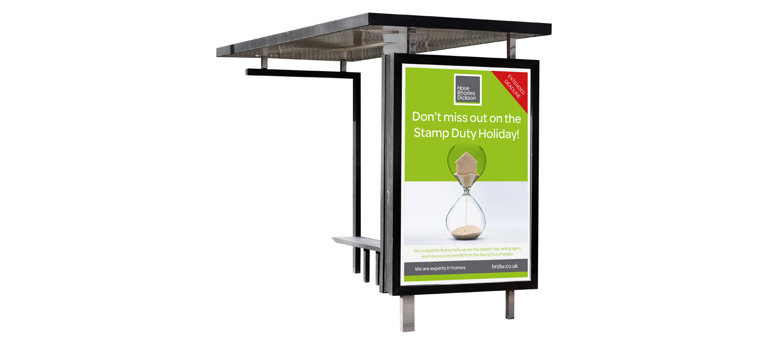 Hose Rhodes Dickson isle of wight bus shelter advert design