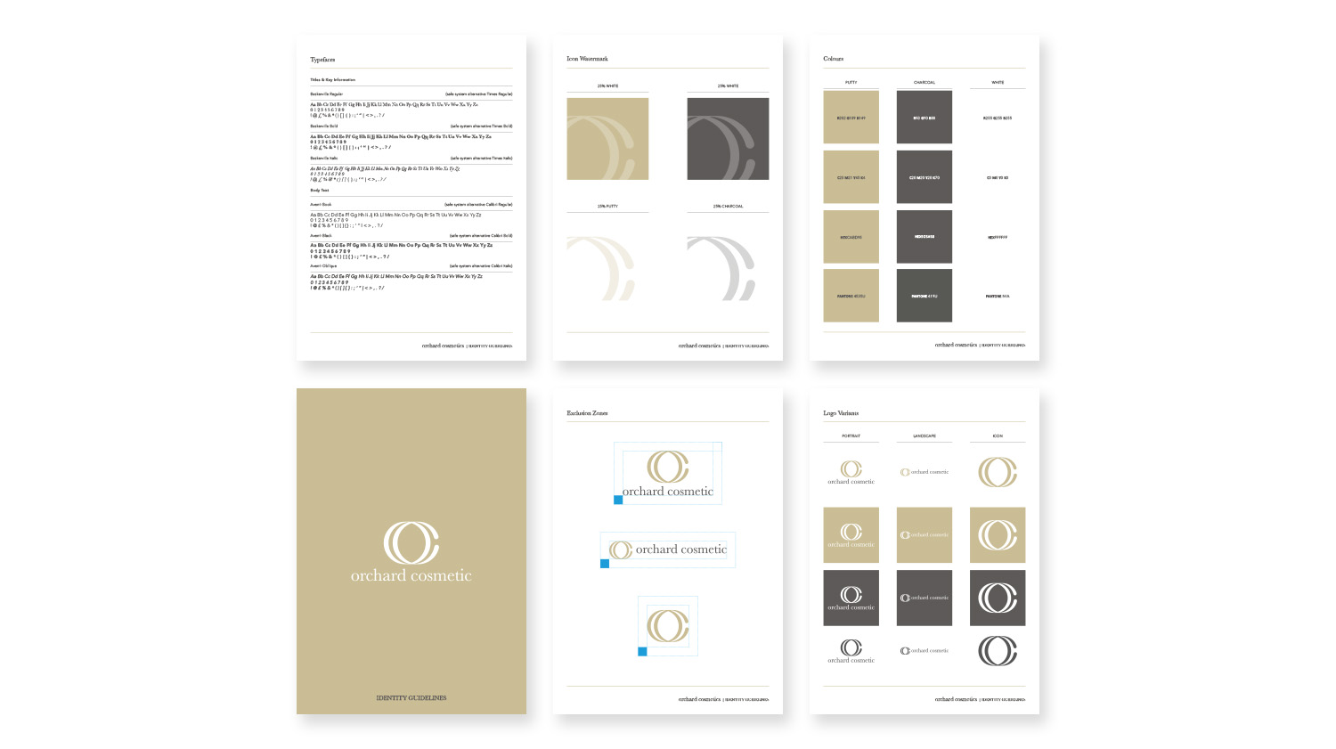 orchard cosmetics isle fo wight visual identity and branding guidelines